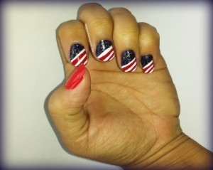 smartandsavvy patriotic nails 2014