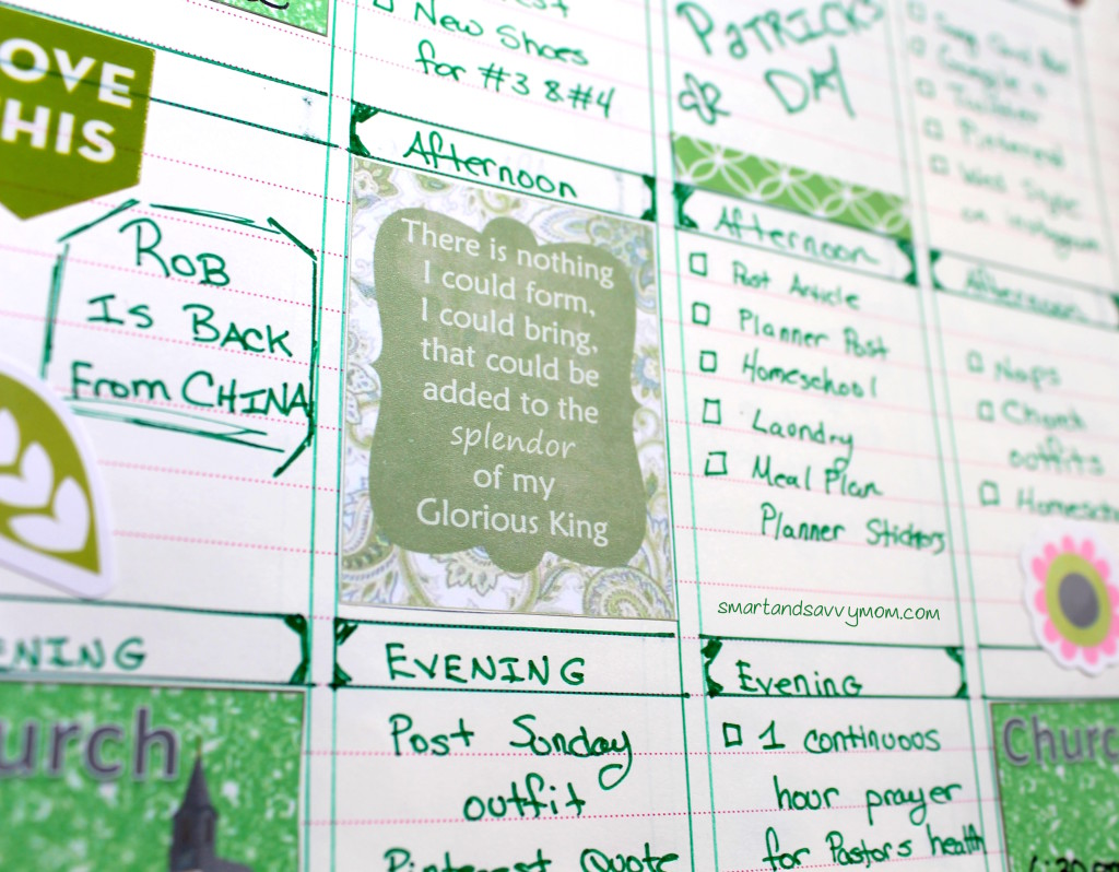 worship the lamb song lyric planner sticker in green