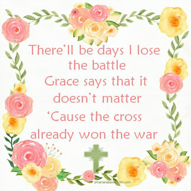 Greater lyrics performed by MercyMe. There'll be days I lose the battle Grace says that it doesn't matter 'cause the cross already won the war