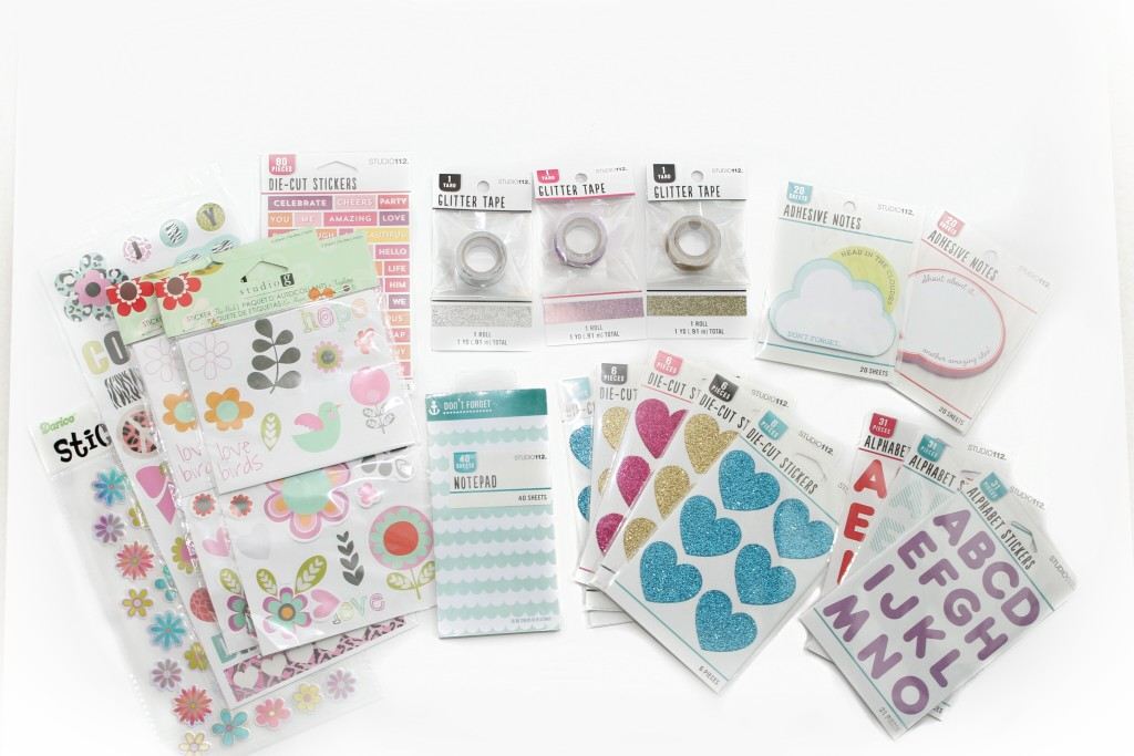 joann stores $1 paper crafting items, planning items, scrapbook items for planners