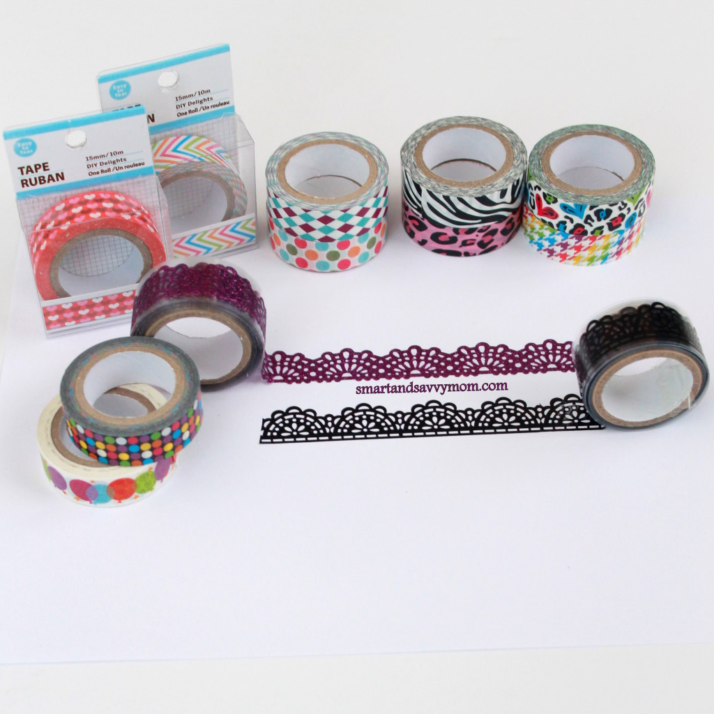 Dollar Tree stores washi tape, inexpensive planner supplies