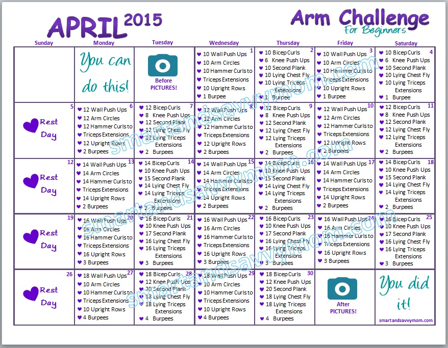 quick and easy  beginner arm challenge preview smartandsavvymom