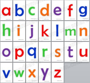 colorful lower case alphabet flash cards sixe 3x5 free printable