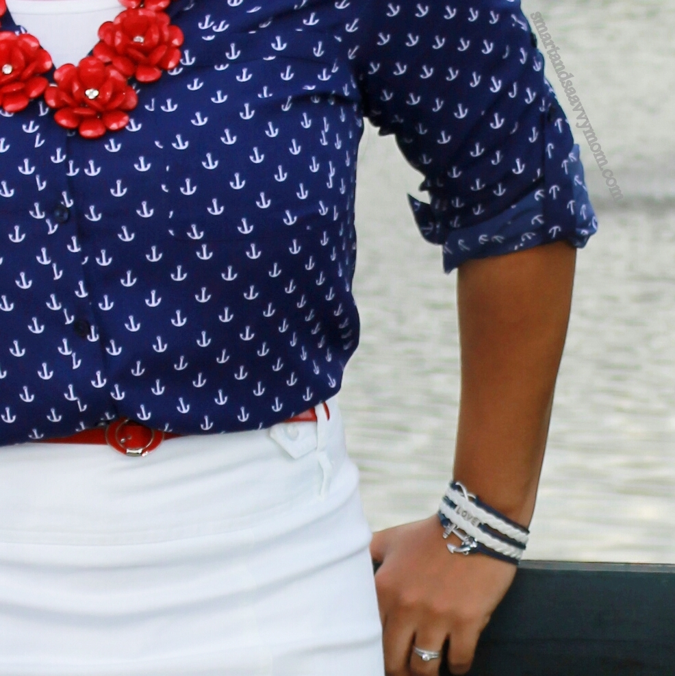 nautical summer style anchor prints and white