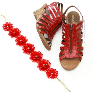 perfect red aerosole sandals for on the go moms