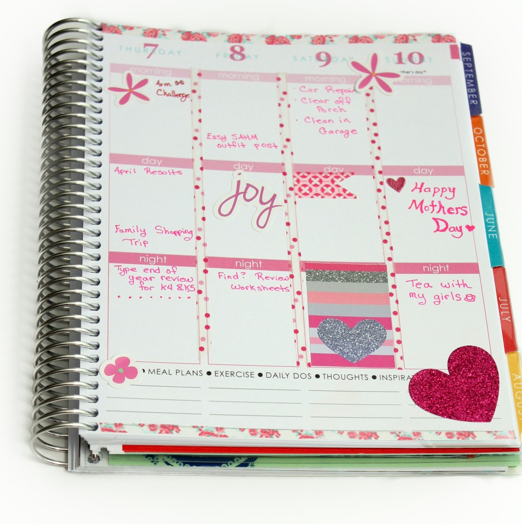 May 2015 weekly decorated planner view