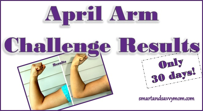april 30 day easy 5 minute arm challenge results title