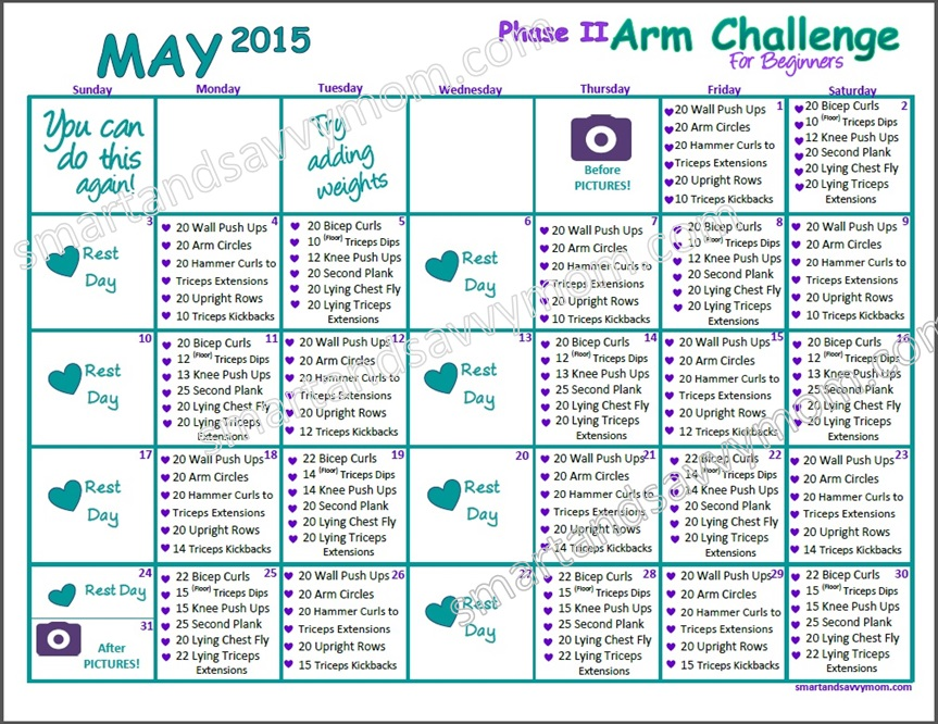 may 2015 phase 2 arm challenge for beginners preview pic