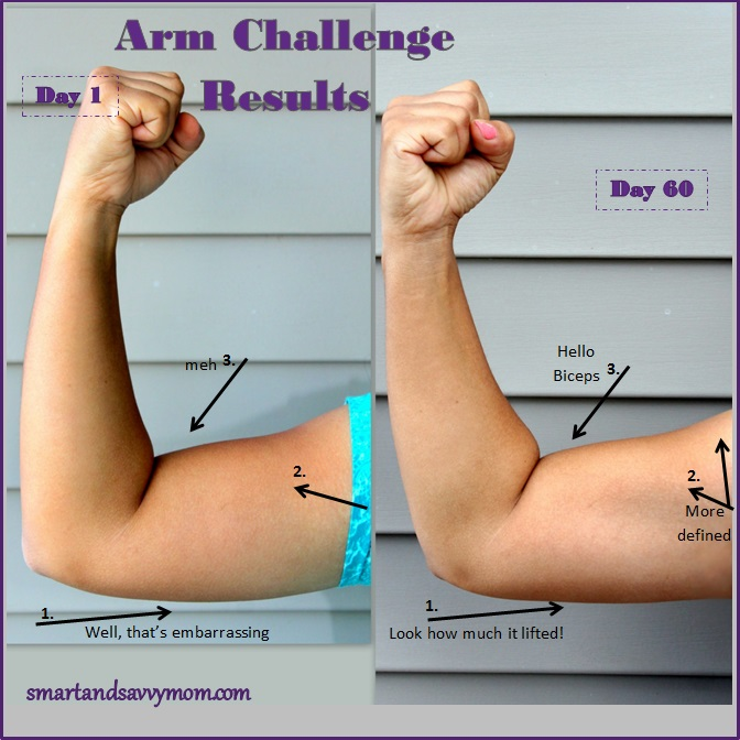 Free Printable May 2015 arm challenge results