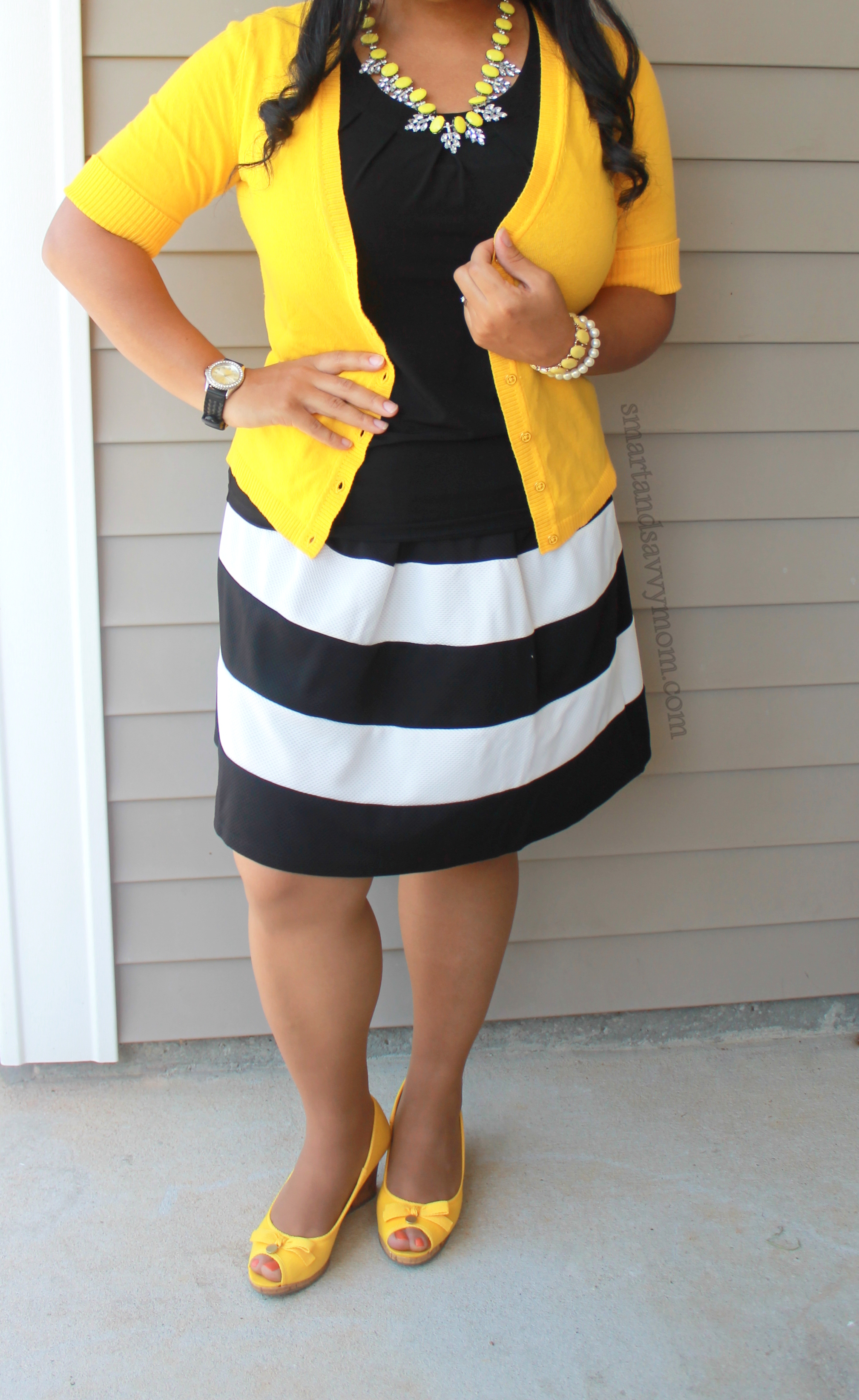 Black and White Stripes with Yellow My Sunday Style | Smart and ...