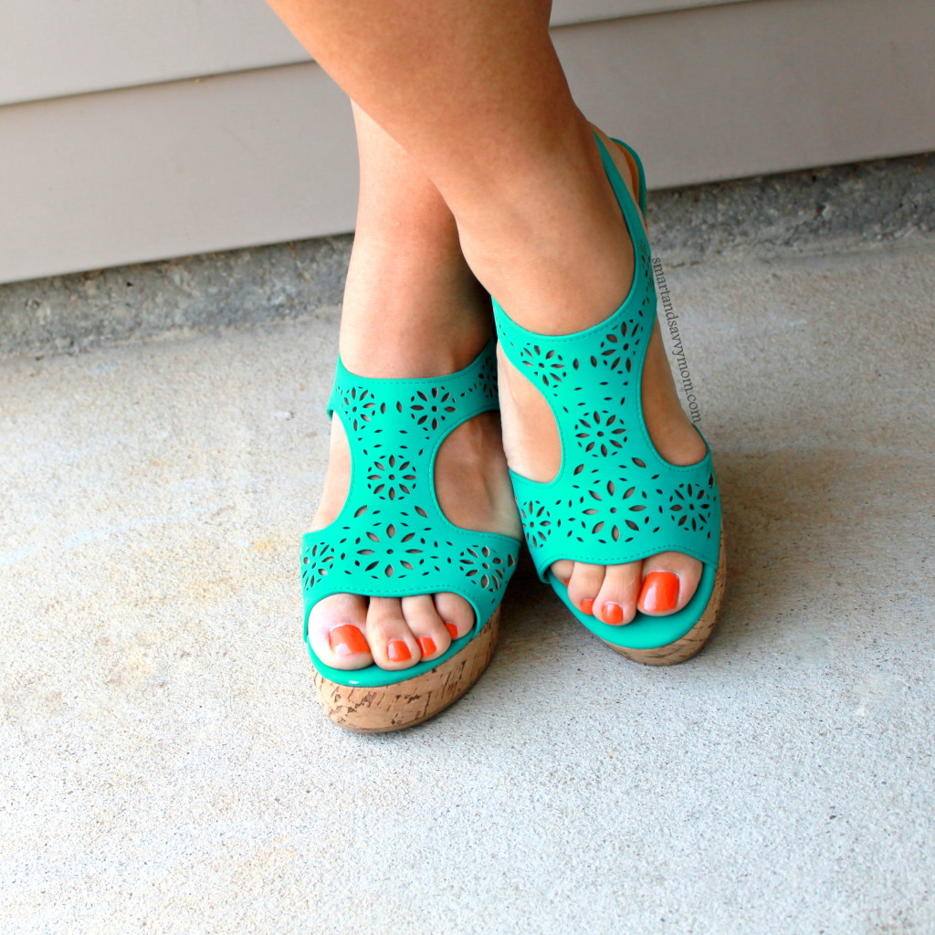 teal sandal wedges from cato fashions great shoes for summer