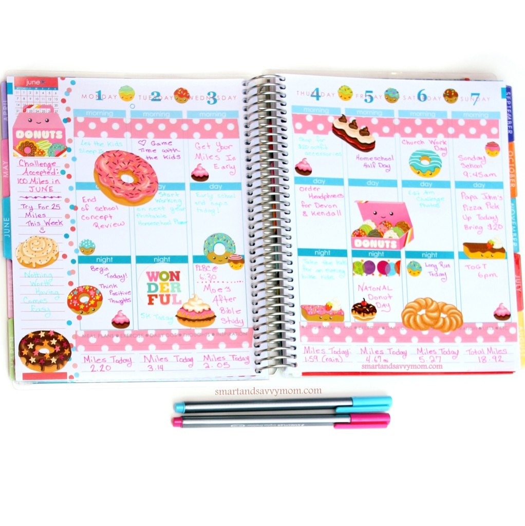june planner pages national donut week donut themed planner pages