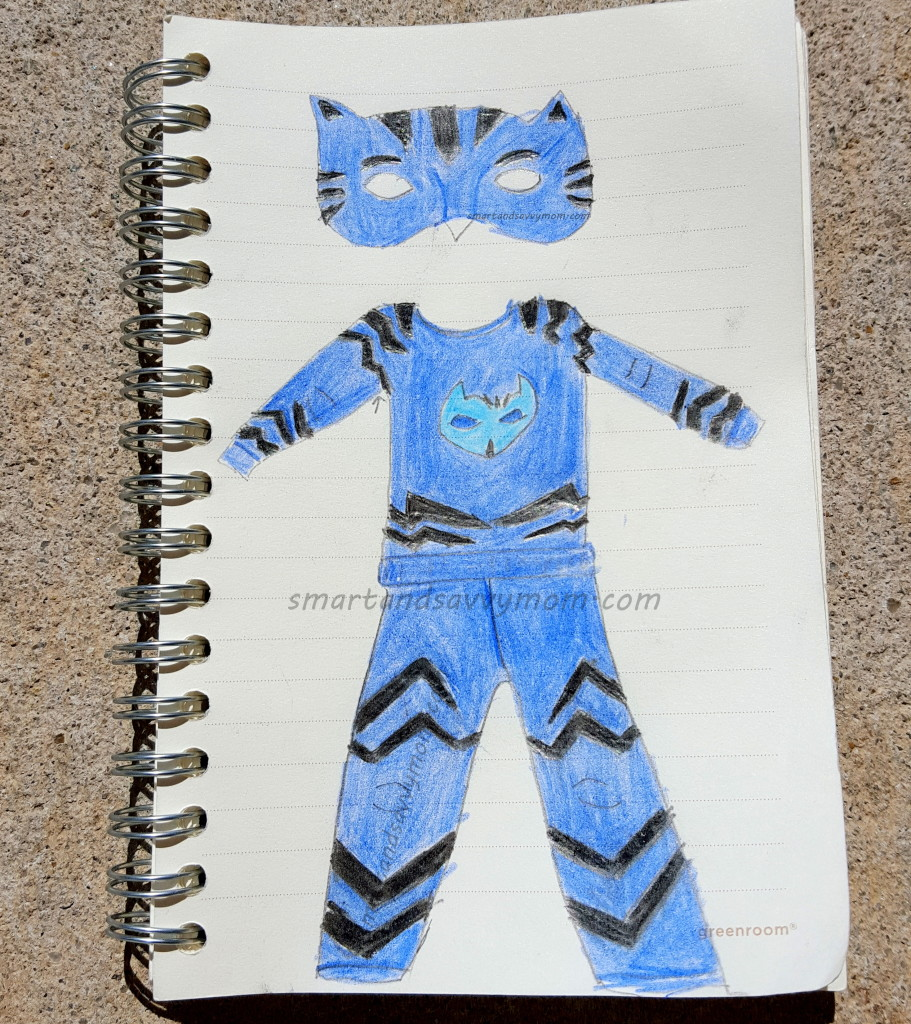 disney jr. PJ Masks catboy costume sketch
