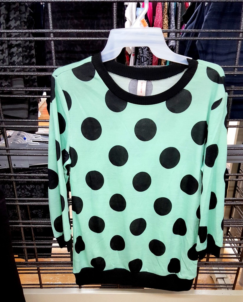 blue and black polka dot sweater - fav fall fashion finds at walmart 2015