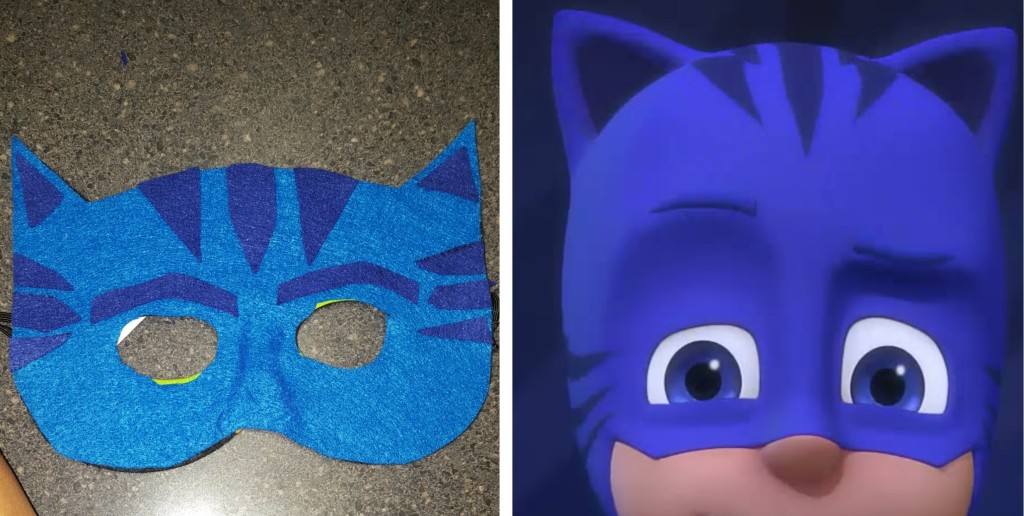mask for PJ masks diy catboy halloween costume