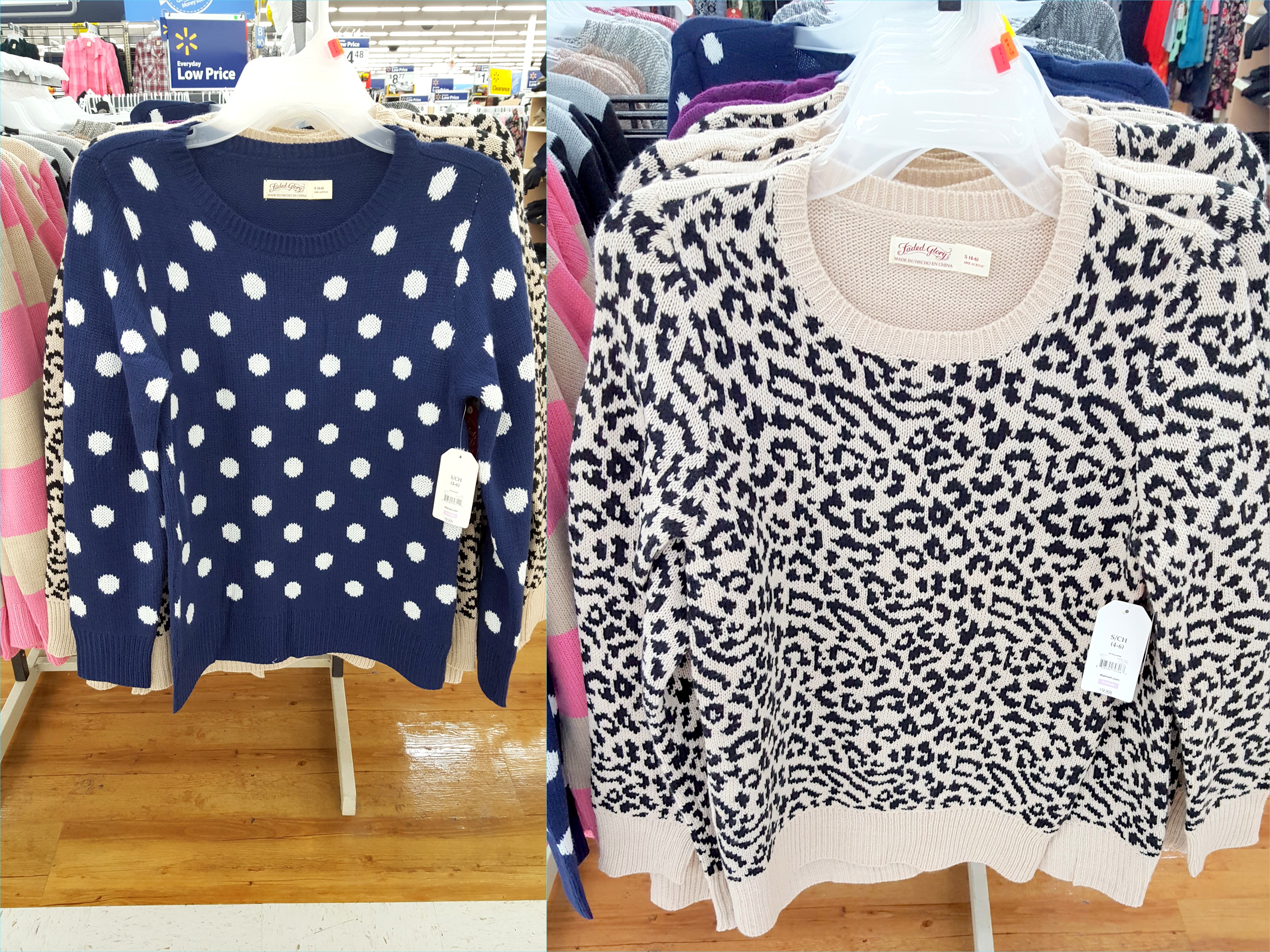 Black t shirt at walmart - Walmart Finds I May Go Back And Get This Sweater With Polka Dots I Am Really On The Long Hard Hunt For A White Sweater With Black Polka Dots