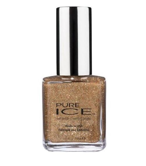 pure ice studette nail color gold glitter nail polish
