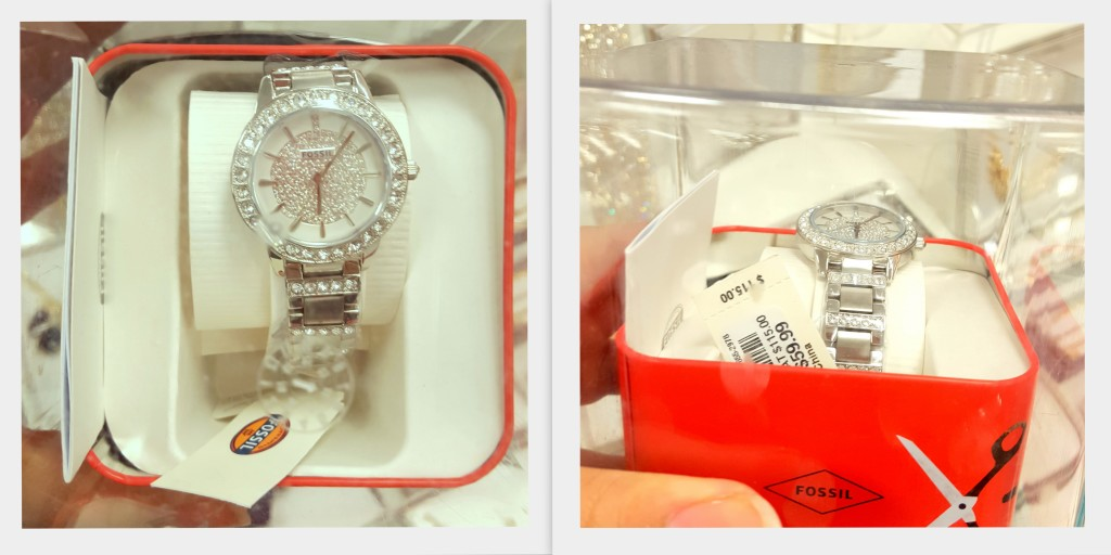 fossil brand watch; great deal found at Burke's outlet