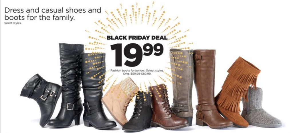 boots kohl's black friday