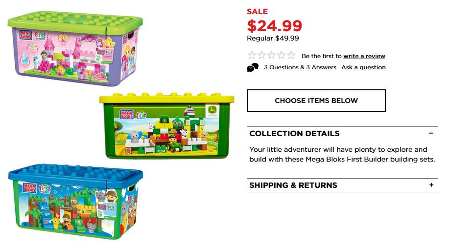 mega bloks first buliders kohl's black friday deal