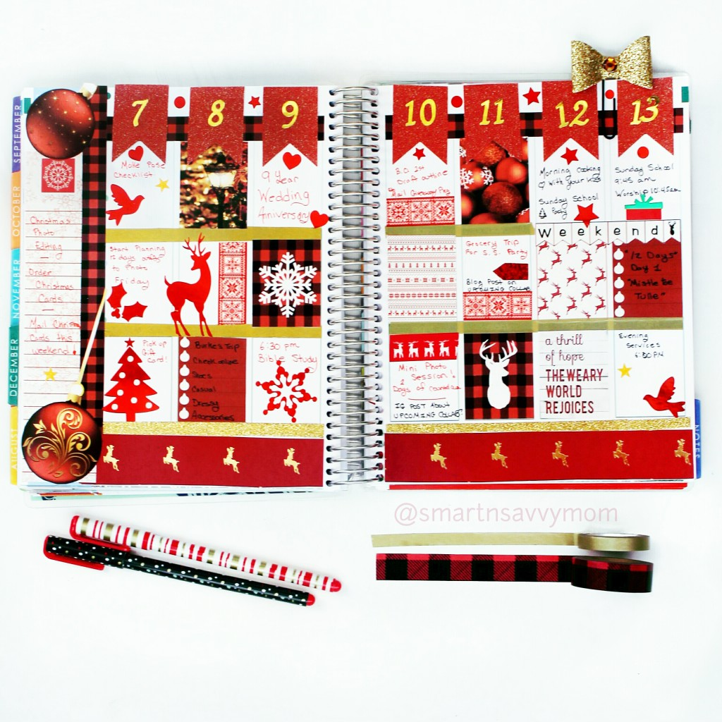 buffalo plaid December week 2 in my #ECPlanner