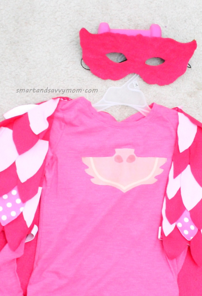 diy no sew owlette costume, pj masks