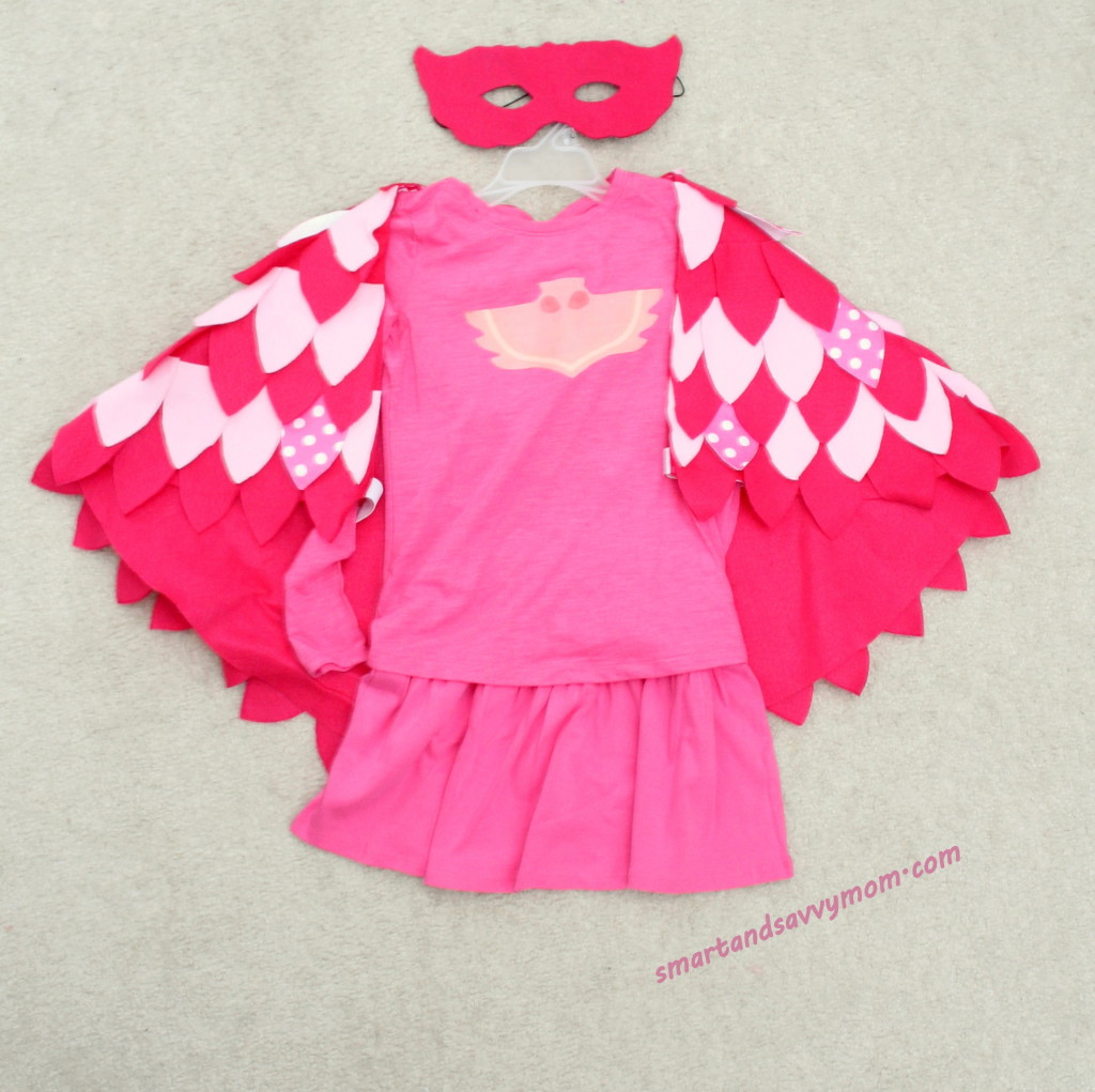 finished flat lay do it yourself pj masks owlette costume
