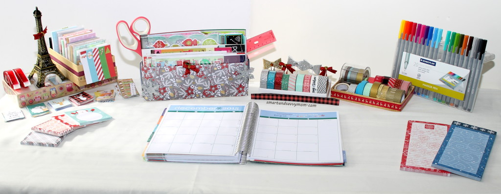 how I decorate my Erin Condren Life Planner. Organized desk set up