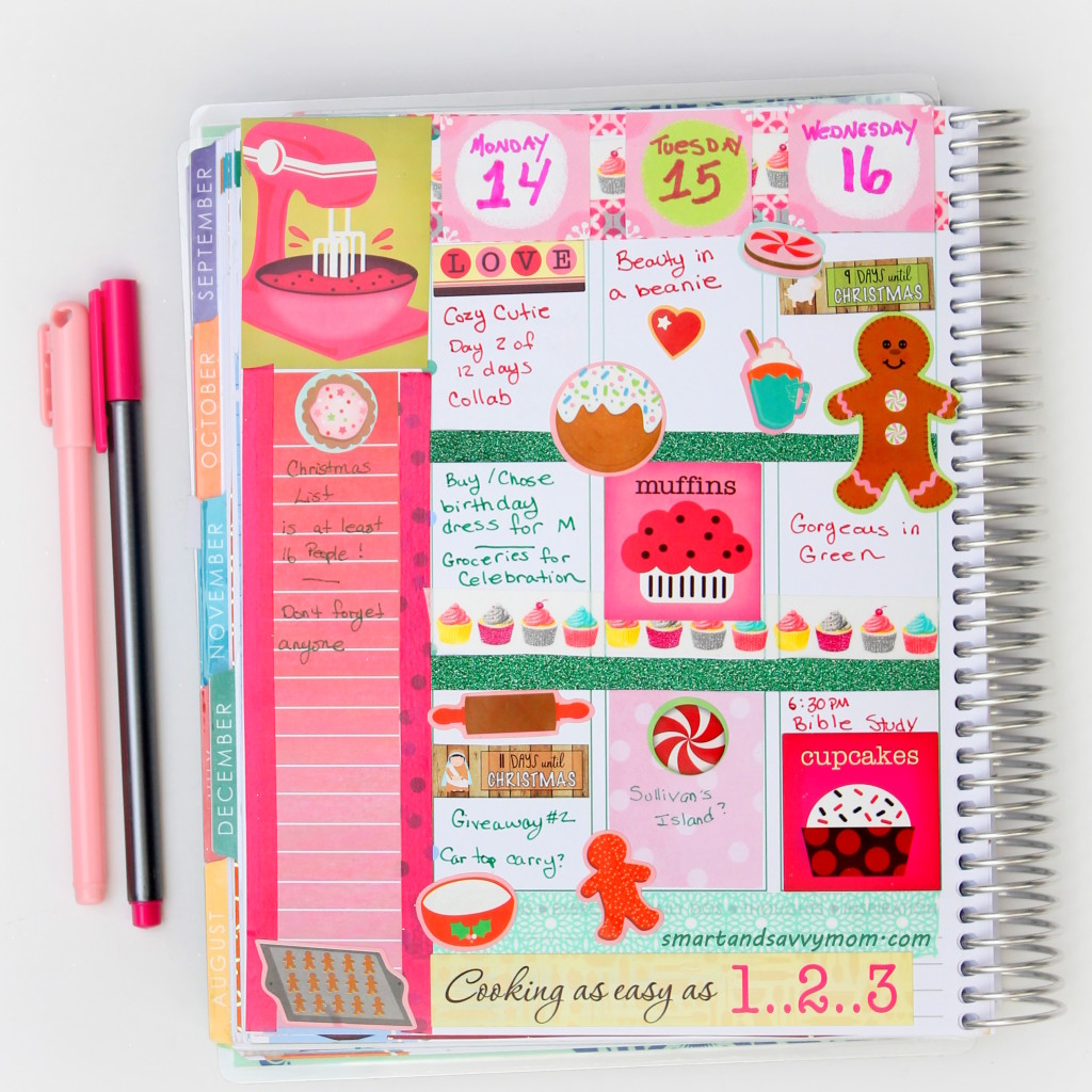 holiday baking theme decorated planner pages idea. Erin Condren Life Planner #ECPlanner
