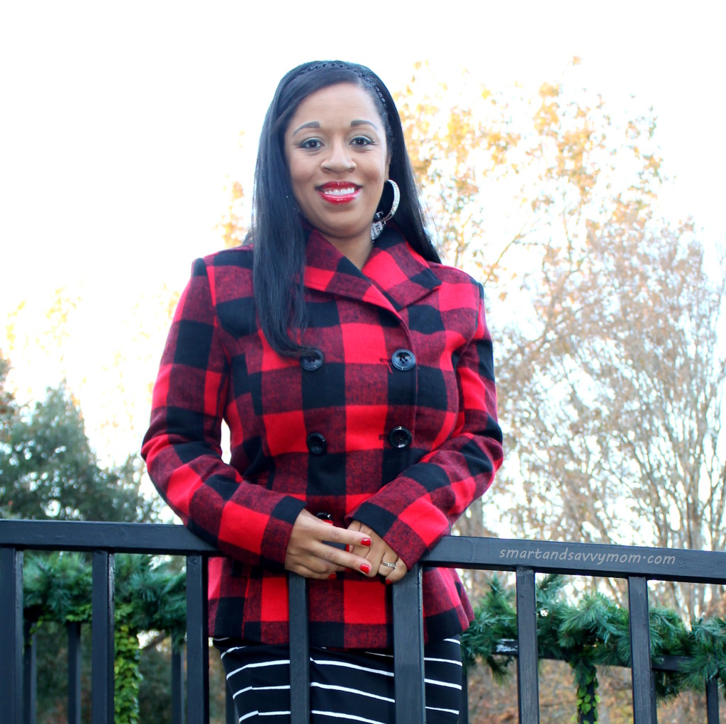 super affordable buffalo plaid coat from burke's outlet