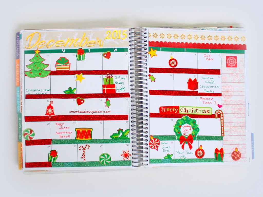 december monthly spread 2015 erin condren life planner #EClifeplanner