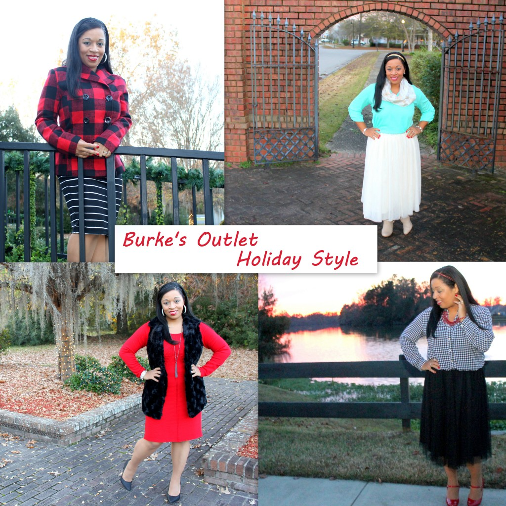 modest holiday outfit looks with Burke's outlet