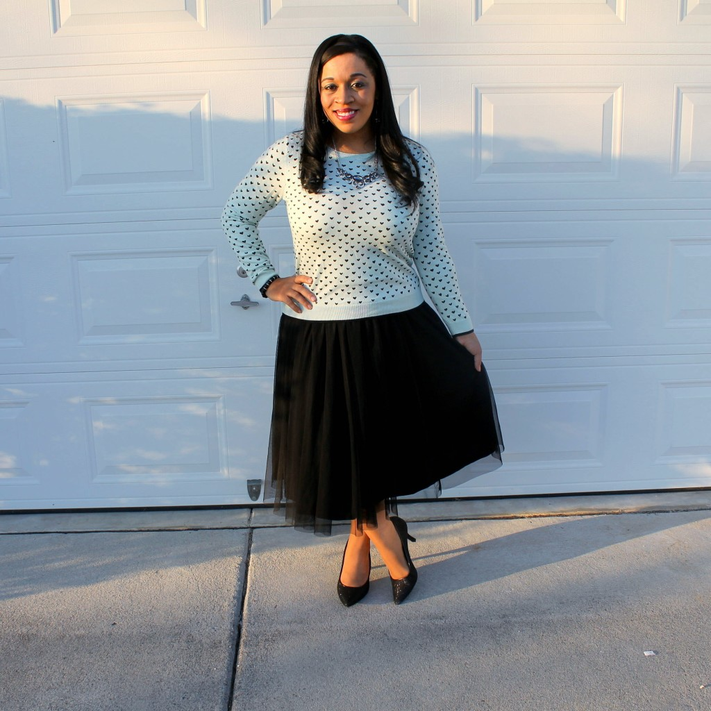 black and blue nontraditional valentine's day outfit idea