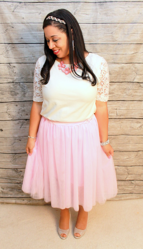 romantic, girly, modest valentine's day outfit