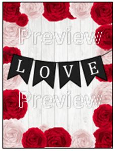 smartandsavvymom, Love flag banner and flowers Free Printable planner cover