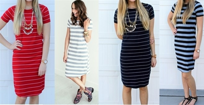 striped dresses on jane.com