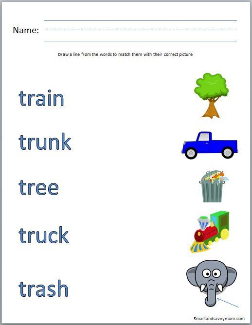 Number Names Worksheets free preschool phonics worksheets : Blends Worksheets For Kindergarten - fl blend worksheets mreichert ...